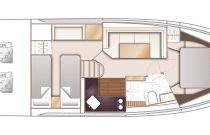 Princess Yachts V40 Layout 2