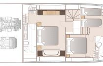 Princess Yachts S78 Main Deck Layout