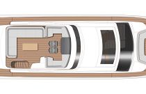 Princess Yachts S78 Upper Deck Layout