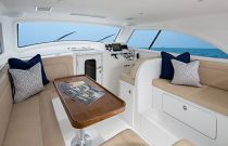 Viking Yachts 37 Billfish Command Deck Dinette and Sofa Area