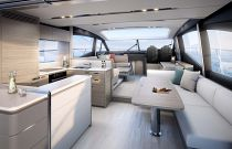 Princess Yachts S65 Salon Sofa and Seating Area