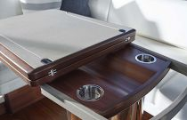 Princess Yachts S65 Teak Table Detail