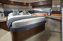 Princess Yachts S65 Guest Cabin Queen Bed