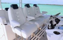 HCB 42 Siesta Triple customizable helm chairs