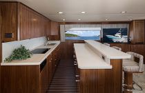 Viking 68C Holly and Teak Flooring Galley