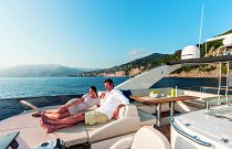 Absolute Yachts 72 Flybridge Bridge Lounge Aft
