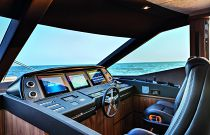 Absolute Yachts 72 Flybridge Command Station