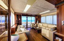 Absolute Yachts 72 Flybridge Salon Aft Image
