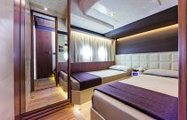 Absolute Yachts 72 Flybridge Bunk Cabin