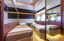 Absolute Yachts 72 Flybridge Bunk Stateroom
