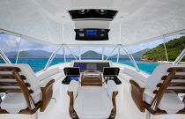 Viking Yachts 68C Flybridge  Release Marine Helm Chairs
