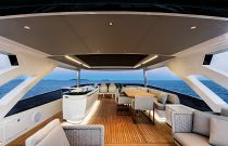 Absolute 73 Navetta Bridge Seating deck space