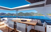 Absolute 73 Navetta Bridge Dining Area