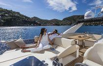 Absolute Yachts 64 FLY Bridge Sun Lounge Aft