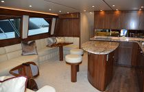 Viking Yachts 62C Galley and salon photo