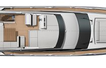 Prestige Yachts 590 Flybridge Bridge Layout