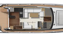 Prestige Yachts 590 Flybridge Upper Deck Layout