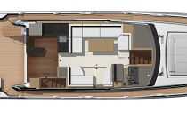 Prestige Yachts 590 Flybridge Main Deck Layout 2