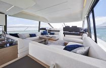 Prestige Yachts 590 Custom Fabric Salon