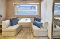 Prestige Yachts 590 Master Cabin Seating and Vanity