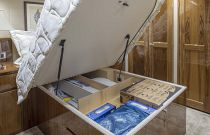 Viking Yachts 62 Convertile Master Stateroom Under Bed Storage