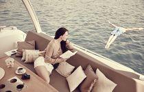 Prestige Yachts 680 FLY Cockpit Socializing Area