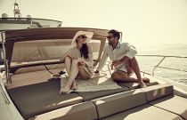 Prestige Yachts 680 FLY Bow Lounge With Sun Protection