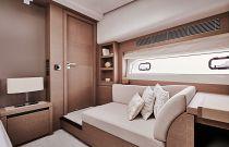 Prestige Yachts 680 FLY Master Cabin Sofa