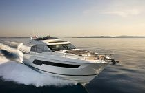 Prestige Yachts 630S Running Sunrise