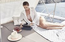 Prestige Yachts 630S Bow Lounge With Sun Protection