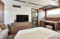 Prestige Yachts 630S MASter Cabin TV