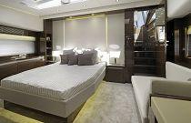 Prestige Yachts 680S Master Cabin Walnut Wood