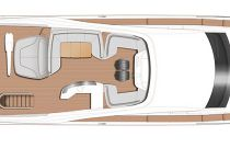 Princess Yachts 85MY Upper Deck Layout