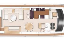 Princess Yachts 85 MY Main Deck Layout