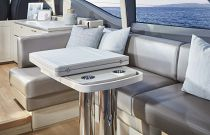 Princess Yachts V60 L-Shaped Dining Area