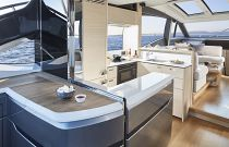 Princess Yachts V60 Aft Galley Image