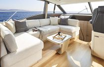 Princess Yachts V60 L-Shaped Sofa