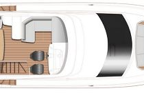 Princess Yachts 45 Flybridge Layout 1