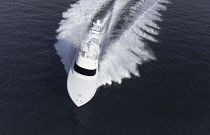 Viking Yachts 58 Convertible Running Birdseye view