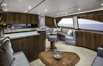 viking yachts 58c salon teak