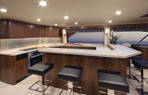 Viking Yachts 92C Galley Island Bar Seating