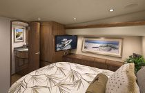 Viking Yachts 48 Convertible MSR Cabin TV