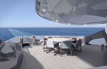 Aft dining area on the princess x95