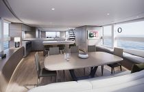 Interior dining area in the Princess X95