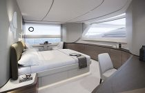 Princess Yachts X95 master stateroom with windows