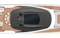 Princess Yachts X95 Layout With Hardtop Rendering
