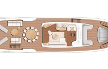 X95 Flybridge Layout With Cranes For Tender