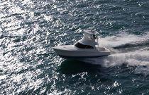 Viking 38 Billfish Running Fast In Ocean