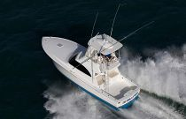 Viking 38 Billfish Overhead View Running