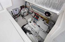 Viking 38 Billfish Engine Room Hatch Open